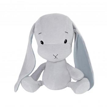 Effik Królik L personalizowany - Szary z niebieskimi uszami