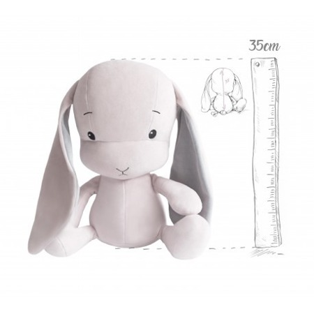 Effik Królik  M  personalizowany - Różowy z szarymi uszami
