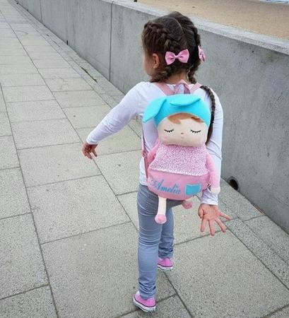 Plecak personalizowany z uszami Metoo Różowy