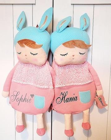 Zestaw Plecak Personalizowany i Lalka Metoo Angela Różowe