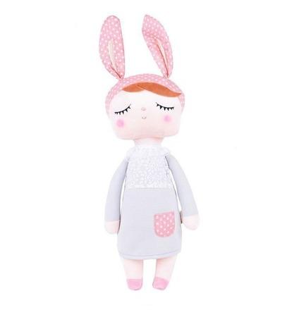 Metoo Anegla Bunny Doll in Grey Dress