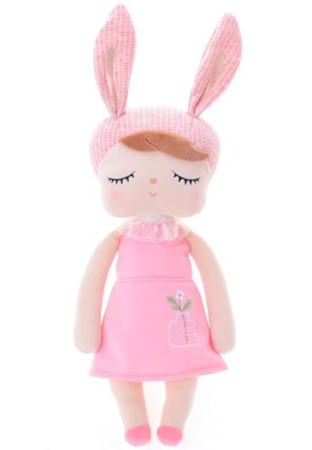 Metoo Anegla Bunny Doll in Pink Dress