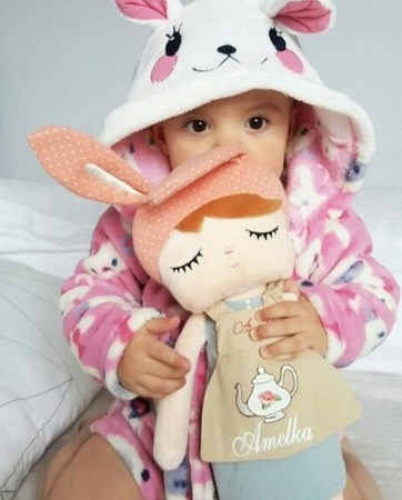 Metoo Personalized Angela Bunny Retro Doll with Gift Bag