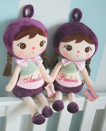 Metoo Personalized Blueberry Girl Doll