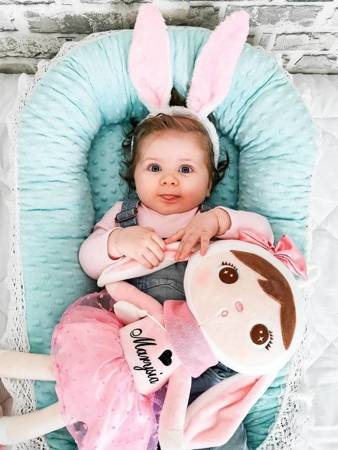Metoo Personalized Bunny Doll with Bow