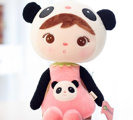 Metoo Personalized Panda Girl XL Doll 70 cm