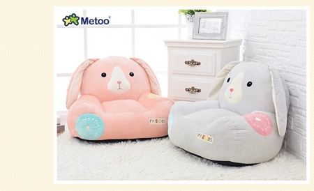 Metoo Personalized Pink Bunny Sofa Friends