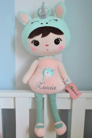 Metoo Personalized Unicorn Girl Doll
