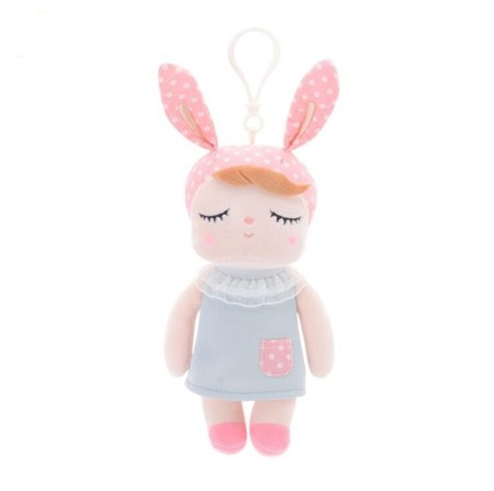 Mini Metoo Angela Bunny Doll in Grey Dress