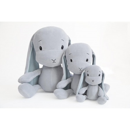 Personalized Bunny Effik L - Gray with Blue ears 50 cm