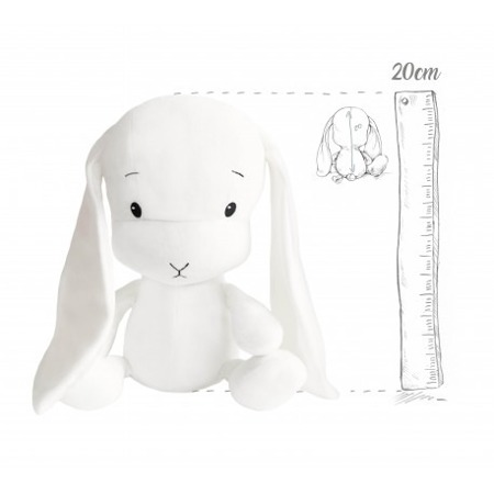 Personalized Bunny Effik S - White with White Ears 20 cm