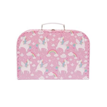 Set Of 3 Rainbow Unicorn Suitcases