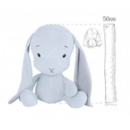 Effik Królik L personalizowany - Niebieski z Szarymi uszami 50 cm