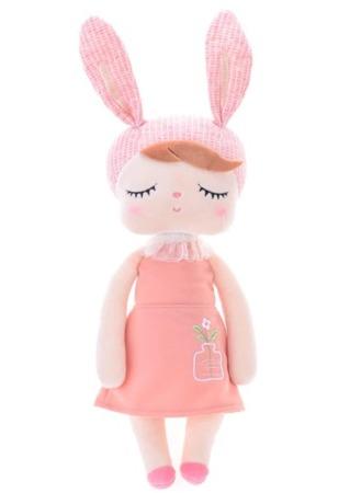 Lalka Metoo Personalizowana Uszatka w Brzoskwiniowej Sukience