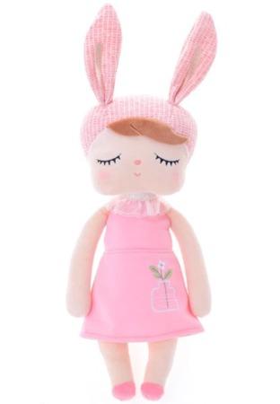 Lalka Metoo Personalizowana Uszatka w Różowej Sukience